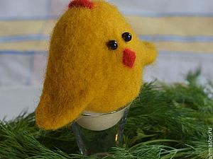 Валяние на шаблоне для начинающих. Пасхальные цыплята. | Ярмарка Мастеров - ручная работа, handmade