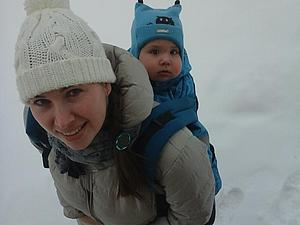 Эрго-рюкзак зимой   Ярмарка Мастеров - ручная работа, handmade