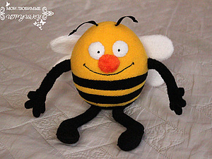 Весенний Пчёл - текстильная игрушка | Ярмарка Мастеров - ручная работа, handmade
