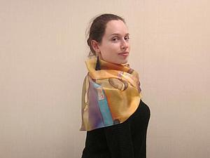 Отчет о мастер-классе-платок за 6ть часов! | Ярмарка Мастеров - ручная работа, handmade
