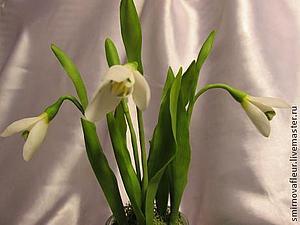 Новинка нашей студии - керамическая флористика (цветы из холодного фарфора) -Подснежники! | Ярмарка Мастеров - ручная работа, handmade