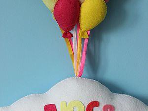 Делаем воздушное именное панно в детскую комнату. Ярмарка Мастеров - ручная работа, handmade.