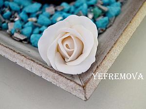 Лепим розу из полимерной глины. Правила работы с белой пластикой. Ярмарка Мастеров - ручная работа, handmade.