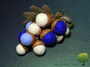 """Подвеска на сумочку """"Желуди"""". Ярмарка Мастеров - ручная работа, handmade."""