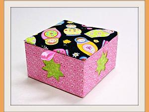 Картонаж. Мини-коробочка со съемной крышкой.   Ярмарка Мастеров - ручная работа, handmade