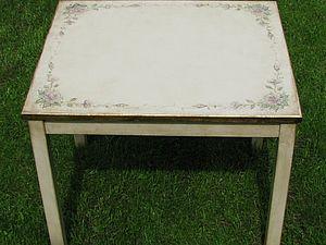 Мебель с патиной. Часть 2.  Декорируем столик ИКЕА. Ярмарка Мастеров - ручная работа, handmade.