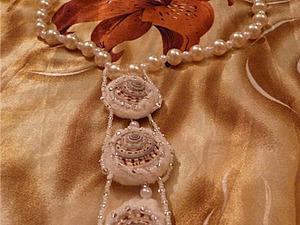 Красивые бусины для колье из ракушек и шерсти. Ярмарка Мастеров - ручная работа, handmade.