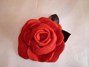Мастер-класс  «Цветы из кожи. Роза и хризантема» | Ярмарка Мастеров - ручная работа, handmade