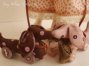 Текстильная такса, handmade