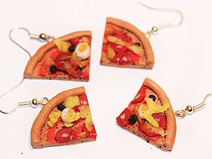 Итальянская пицца из полимерки :). Ярмарка Мастеров - ручная работа, handmade.