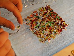 Мастерим шкатулочку «Хрустальный ларчик» из стеклянной крошки. Ярмарка Мастеров - ручная работа, handmade.