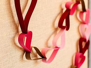 Цепь из сердец | Ярмарка Мастеров - ручная работа, handmade