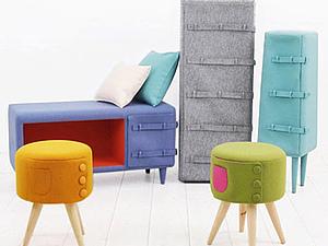 Dressed-up furniture- одетая мебель от KAMKAM | Ярмарка Мастеров - ручная работа, handmade