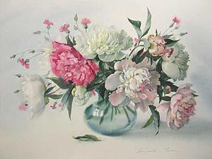 Нежные и величественные пионы в живописи