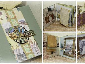 Мастер-класс по созданию большого  фотоальбома (тревел-бук) на классическом переплете   Ярмарка Мастеров - ручная работа, handmade