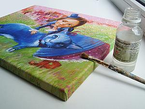 Печать на холсте и натяжка на подрамник. Ярмарка Мастеров - ручная работа, handmade.