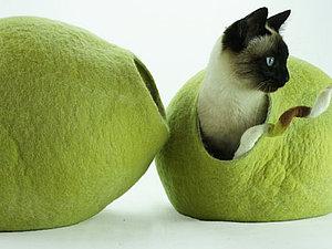 Домики для кошек и маленьких собачек. | Ярмарка Мастеров - ручная работа, handmade