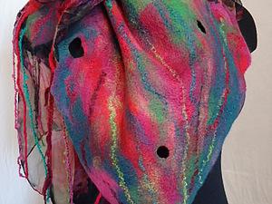 Валяем на шёлке   летний  шарфик (новичкам) | Ярмарка Мастеров - ручная работа, handmade