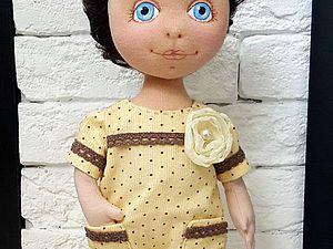 Шьем комбинезон в горошек для куклы. Ярмарка Мастеров - ручная работа, handmade.