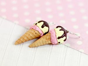 Мороженое из полимерной глины. Ярмарка Мастеров - ручная работа, handmade.