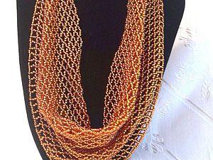 Плетение косынки из бисера снизу вверх | Ярмарка Мастеров - ручная работа, handmade