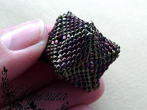 Мастер-класс: плетем кубик из бисера. Ярмарка Мастеров - ручная работа, handmade.