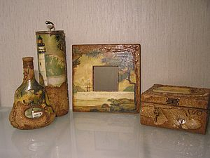 Пробковая подложка в декорировании предметов | Ярмарка Мастеров - ручная работа, handmade