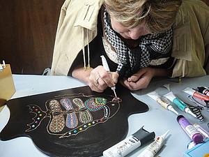 Точечная роспись - пятое занятие | Ярмарка Мастеров - ручная работа, handmade