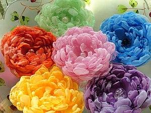 Винтажная роскошь цветов из ткани | Ярмарка Мастеров - ручная работа, handmade