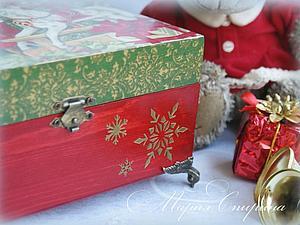 Декорируем шкатулку «Время подарков». Ярмарка Мастеров - ручная работа, handmade.