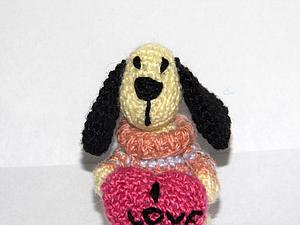 Вяжем миниатюрную собачку. Ярмарка Мастеров - ручная работа, handmade.