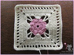 Вяжем крючком мотив «Нежный цветок» | Ярмарка Мастеров - ручная работа, handmade