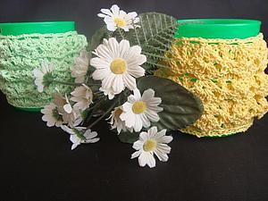 Вязаный комплект для чашки