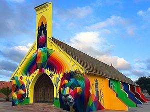 Церковь в Марокко, расписанная в стиле граффити. Ярмарка Мастеров - ручная работа, handmade.