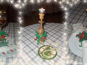 Новогоднее украшение для подсвечника, фужера или салфетки | Ярмарка Мастеров - ручная работа, handmade