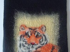 """Сумка """"Тигр"""" из войлока.. Ярмарка Мастеров - ручная работа, handmade."""