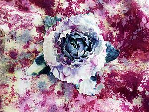 Изготовление цветка из шелка в русской технике. Ярмарка Мастеров - ручная работа, handmade.