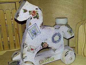 «Любимая игрушка» деревянная игрушка-лошадка, декупаж | Ярмарка Мастеров - ручная работа, handmade