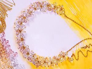 Плетем сверкающее летнее ожерелье из бусин. Ярмарка Мастеров - ручная работа, handmade.