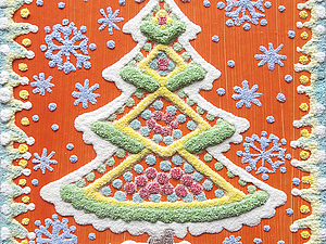 Создание новогодних открыток. Детский мастер-класс по Кварцевой живописи (рисунок песком) Мск | Ярмарка Мастеров - ручная работа, handmade