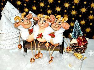 С неба звездочку достану... Новогодняя Овечка-брелочек   Ярмарка Мастеров - ручная работа, handmade