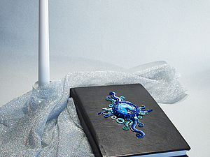 Ежедневник с вышивкой бисером. | Ярмарка Мастеров - ручная работа, handmade