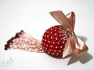 Изящное украшение для новогодней елки своими руками. Ярмарка Мастеров - ручная работа, handmade.