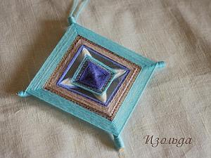 Плетение простой 4-лучевой мандалы   Ярмарка Мастеров - ручная работа, handmade