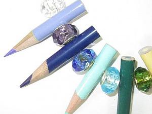 Украшения из цветных карандашей | Ярмарка Мастеров - ручная работа, handmade