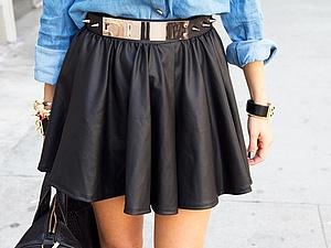 Кожаные юбка колокол