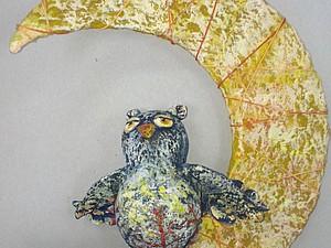 Cовушка на луне. Ярмарка Мастеров - ручная работа, handmade.