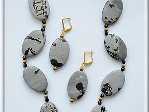 Аукцион! Колье и серьги из яшмы. | Ярмарка Мастеров - ручная работа, handmade