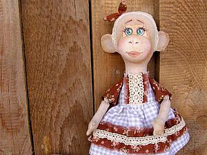 Шьем текстильную обезьянку Лесю. Ярмарка Мастеров - ручная работа, handmade.