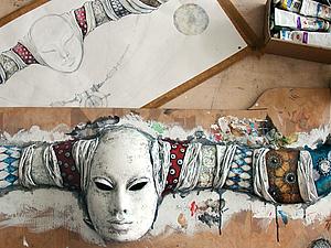 Создание маски - экскурсия в творческий процесс. | Ярмарка Мастеров - ручная работа, handmade